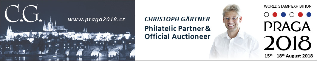 PRAGA 2018: Philatelic Partner & Official Auctioneer Christoph Gärtner